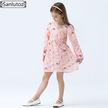 Girls Dress Brand Kids Clothes Children Girls Clothing Spring Lace Dress for Princess Holiday Party Wedding Baby Toddler