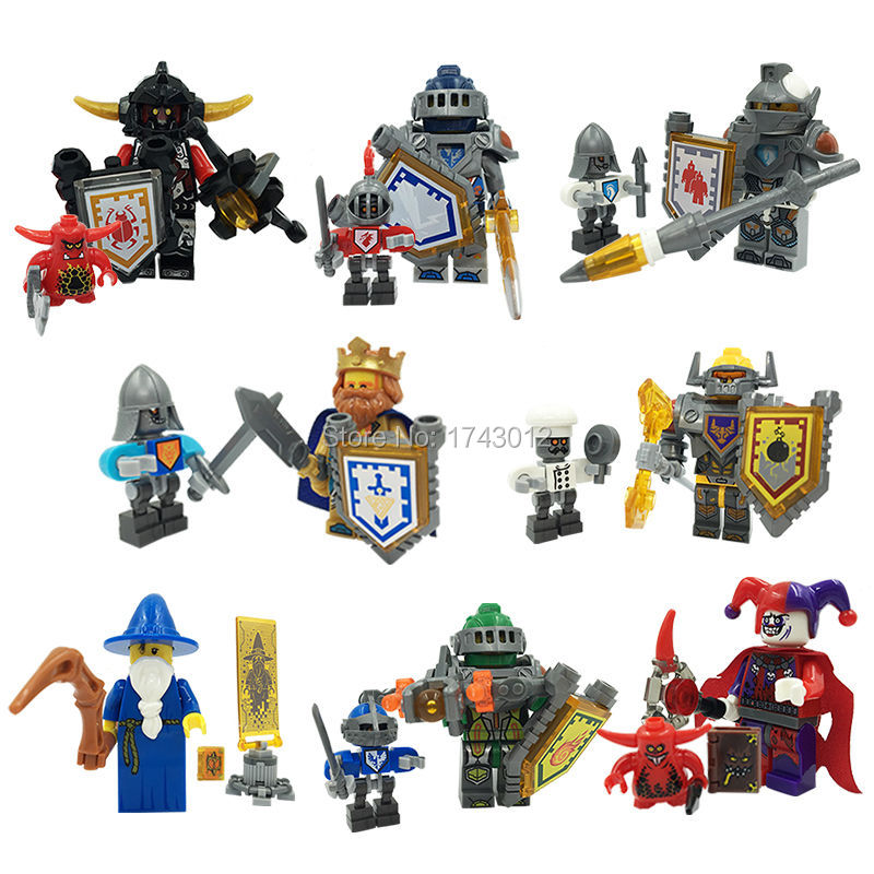 Nexus Knights Castle Knights LELE 79301 Minifigures 16pcs/lot Clay Aaron Fox Axl figure Toys For Children Lepin Building Bricks<br><br>Aliexpress