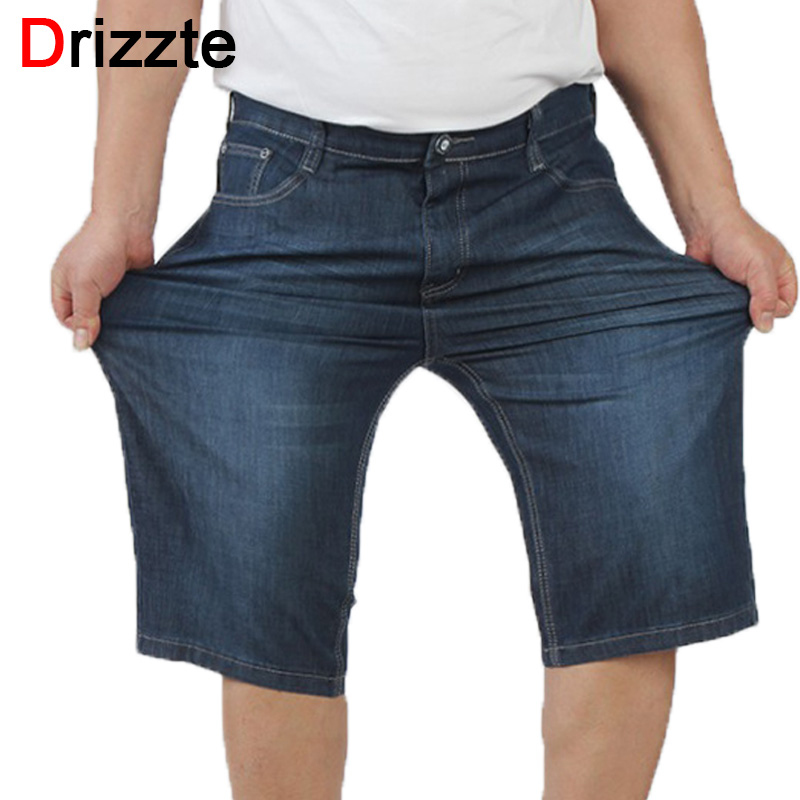 Drizzte Summer Fashion Mens Jeans Stretch Denim Plus Size Jeans Shorts Short Pants Trouser Size 36 38 40 42 44 46 Big and TallОдежда и ак�е��уары<br><br><br>Aliexpress