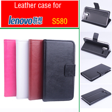 For Lenovo S580 case cover With Wallet Slot Good Quality Leather Case Hard Back Cover For LenovoS580 Cellphone Shell