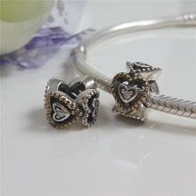 Fits Pandora Bracelet DIY Jewelry 2016 Autumn Original 100% 925 Sterling Silver Celebration of Love Clear CZ Spacer Charm Beads.