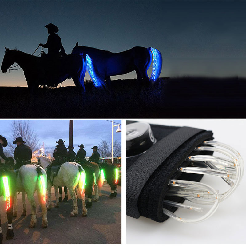 MOYLOR 100CM Horse Tail USB Light Chargeable LED Crupper Horse Harness Equestrian Paardensport Horse Riding Cheval Equitation T<br>