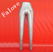 Free Shipping!!Inflatable Female Mannequin leg Pants Skirt Stocking Display Stand Holder Silver Gray For Display Sock On Sale(China)