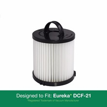Filters fit For Eureka DCF-21 Series Part 67821, 68931, 68931A, EF91 Fits Eureka Upright and Sanitaire Air Speed Bagless Models