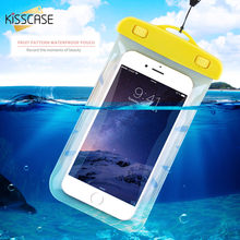 KISSCASE Clear Waterproof Mobile Phone Bags with Strap for iPhone 7 7 Plus Pouch Cases Cover For Samsung Galaxy S7 For Xiaomi Mi(China)