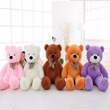100cm FULL COTTON Plush Big Teddy Bear Toys Plush Stuffed Teddy Bear Cheap Price Gifts for Kids Girlfriends Christmas(China)