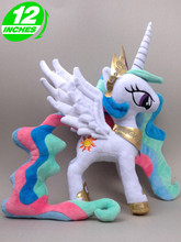2016 Hot Sale Movies & TV 32cm Princess Celestia plush doll horse toy for birthday gift High Quality(China)