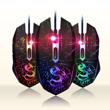Brand 6Key USB Laptops Wired Gaming Mouse 3200DPI gamer for Notebook Computer PC Sem fio for dota2 cs go Games Mause Snigir Mice(China)