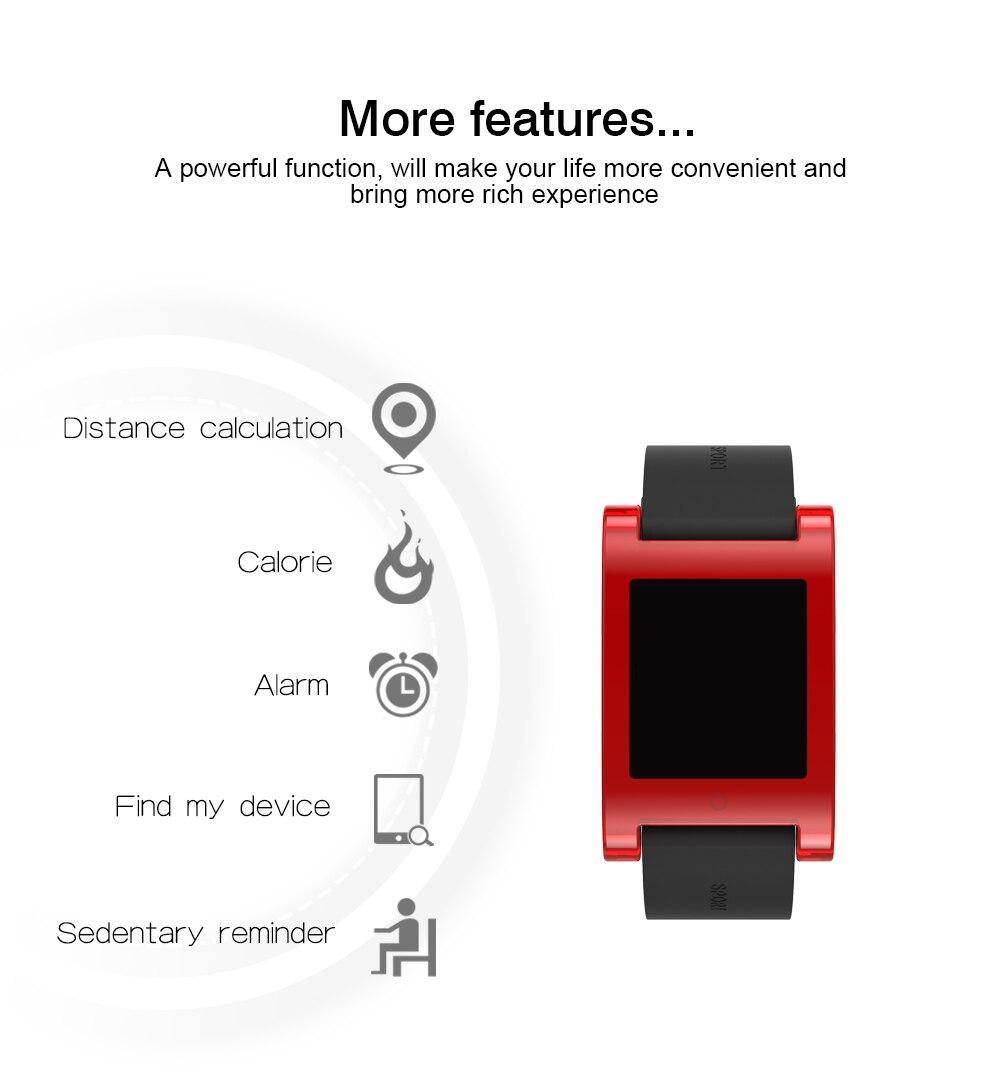 Heart Rate Bracelet Wristband Black DM68 professional Waterproof Sports pedometer Smart Clock call reminderFitness Tracker