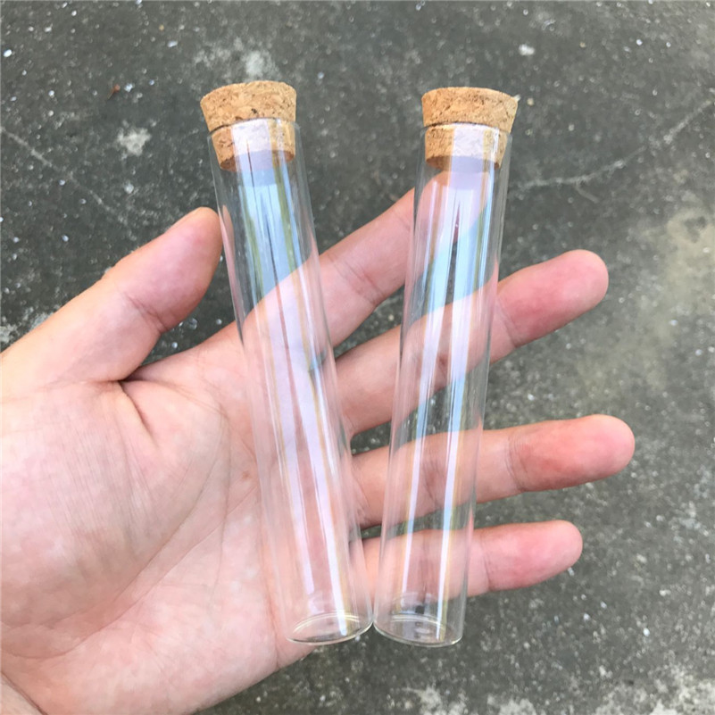 22ml Glass Jars Test Tube Bottles With Cork Stopper Transparent Clear Vials Packaging Bottles1