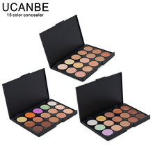 UCANBE Brand Special Professional 15 Color Concealer 15 colors Facial Face Cream Care Camouflage Makeup base Palettes Cosmetic(China)