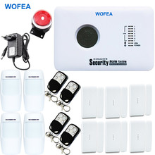 WOFEA APP controller Wireless GSM alarm SYSTEM Security Home Alarm System Russian and english Spanish voice(China)
