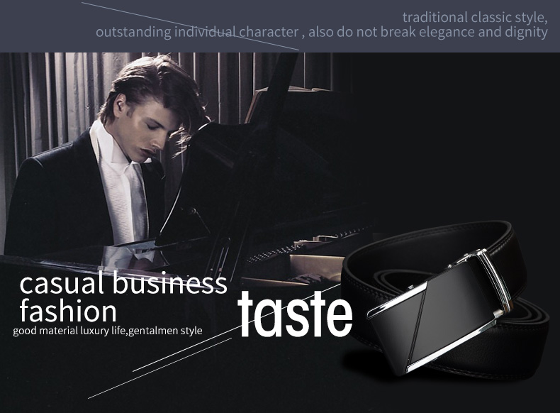 حزام COWATHER جلد طبيعي للرجال ذو جودة عالية 12