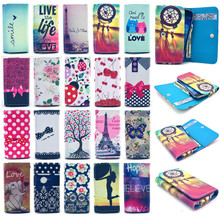 For DAXIAN i9500 SOS Mobile Phone Painting Wallet Cover Skin Bag Style PU Flip Leather Case