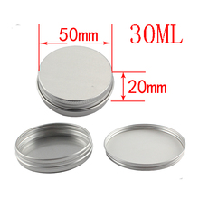 20ps High Quality, Empty, silver, 30g Aluminum Pot Jars, Cosmetic Containers, With Lids,Eye cream,hair conditioner(China)