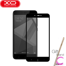 XO 9H 2.5D Full Screen Protective Tempered Glass For Xiaomi redmi Note 4X ,Gift Phone Stand 1Pcs(China)