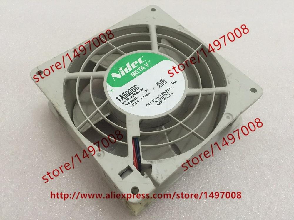 Nidec TA500DC A34538-90 CQ2 DC 12V 2.7A 127x127x50mm Server Square fan<br>
