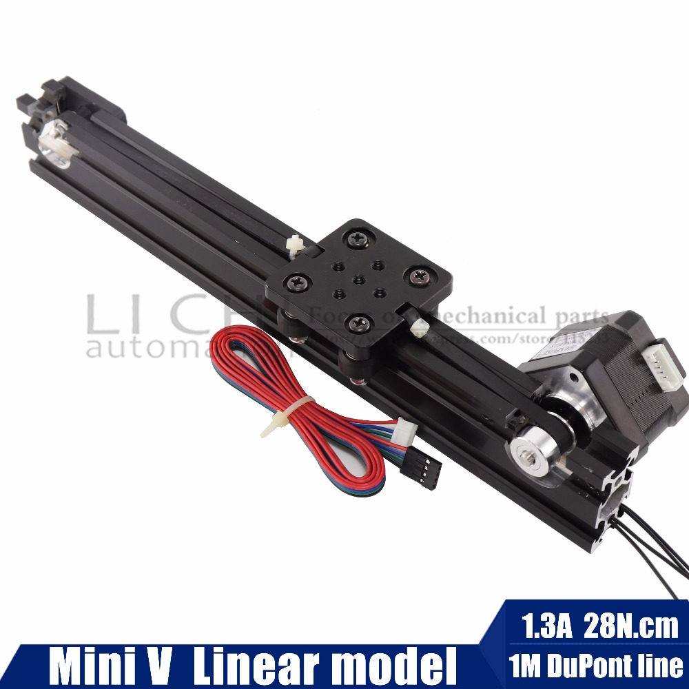 Openbuilds 17hs3401 NEMA17 Stepper motor Mini V-Slot Linear actuatorLinear model for router kit Reprap 3D printer sapre parts <br>