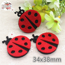3.4CM Non-woven patches red ladybird Felt Appliques for clothes Sewing Supplies diy craft ornament