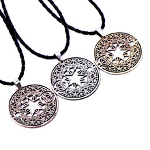 [Card Captor Sakura] Romantic Souvenir Magic Circle Pendant Necklace Lucky Charm Magical Star Necklace Japanese Anime Collection