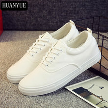Fashion Trend 2018 New Canvas Shoes Mens Solid White Black Men's Flats Lace Breathable Men Casual Shoes Footwear Loafers