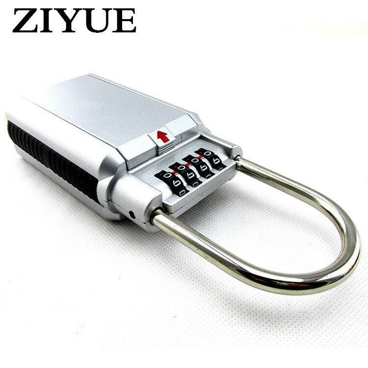 4 Digit Combination Password Key Storage Security Door Lock Zinc Alloy Keyed Padlock Box Organizer Free Installation <br>