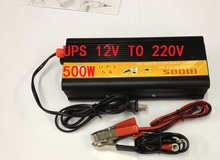 free shipping UPS Inversor DC To AC 12V 220V Car Power Inverter 500W Universal Uninterrupted Power Supply(China)