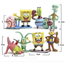 1PC NEW Kid Gift Fish Tank Aquarium Decoration Landscaping SpongeBob Ornament Squidward Tentacles Patrick Star Squidward Krabs(China)