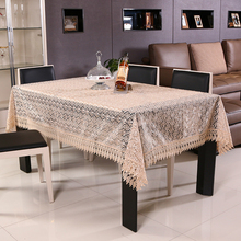 100% Polyester Round Europe Tablecloths For Weddings Jacquard Embroidered Tablecloths Sale Vintage Hollow Rectangular Tablecloth