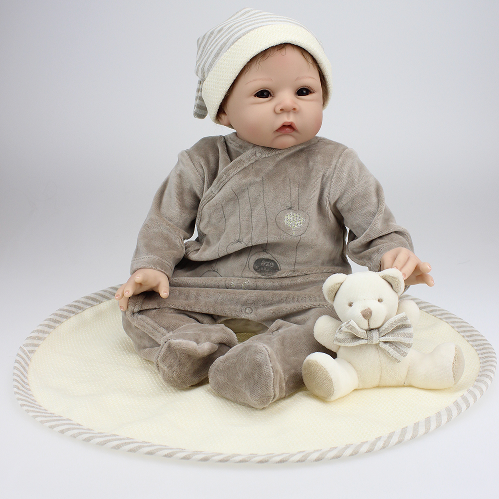 50-55cm Top Quality Silicone Reborn Babies Doll Classic Toy Lovely Reboen Baby Dolls Alive Reborn Preemie Toys For Kids Gift<br><br>Aliexpress