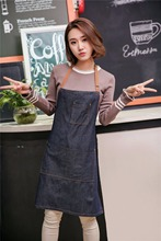 Hot kitchen Denim work Apron unisex for cooking apron for Woman man Cowboy Antifouling Chef Cooking pinafore Delantal Tablier
