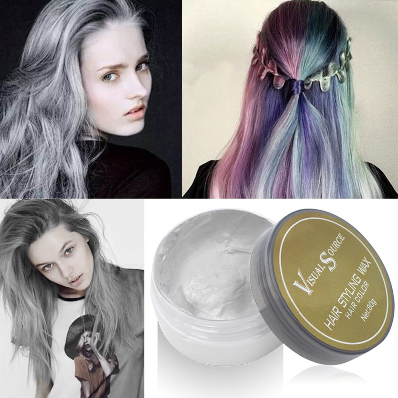 Professional Dynamic Modeling Hair Wax Makeup 5 Colors Hair Dye Wax Hair Color One-time Molding Paste Color Hair Wax New 2018 3