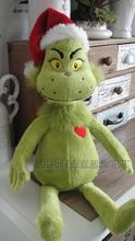 Movie How the Grinch Stole Christmas Grinch Doctor Seuss Cartoon Cute Stuff Plush Toy Doll Children Birthday Gift(China)