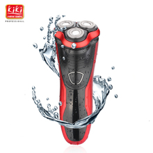 KIKI beauty world MEN'S RECHARGEABLE WATERPROOF SHAVER with Pop-up trimmer Three independent floating heads(China)