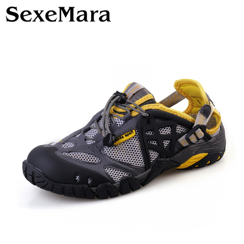 Breathable Shoes Mens couples Summer Leather Walking Shoes 2017 Waterproof Outdoor Beach Sandals Water Shoes for Men Sandals<br><br>Aliexpress