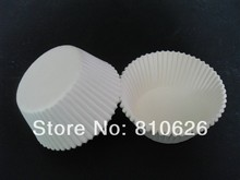 Wholesale Free Shipping 600pcs White Plain Solid Cake Cupcake Liner Muffin Paper Case Chocolate Baking Bake Mold Cup cake tray