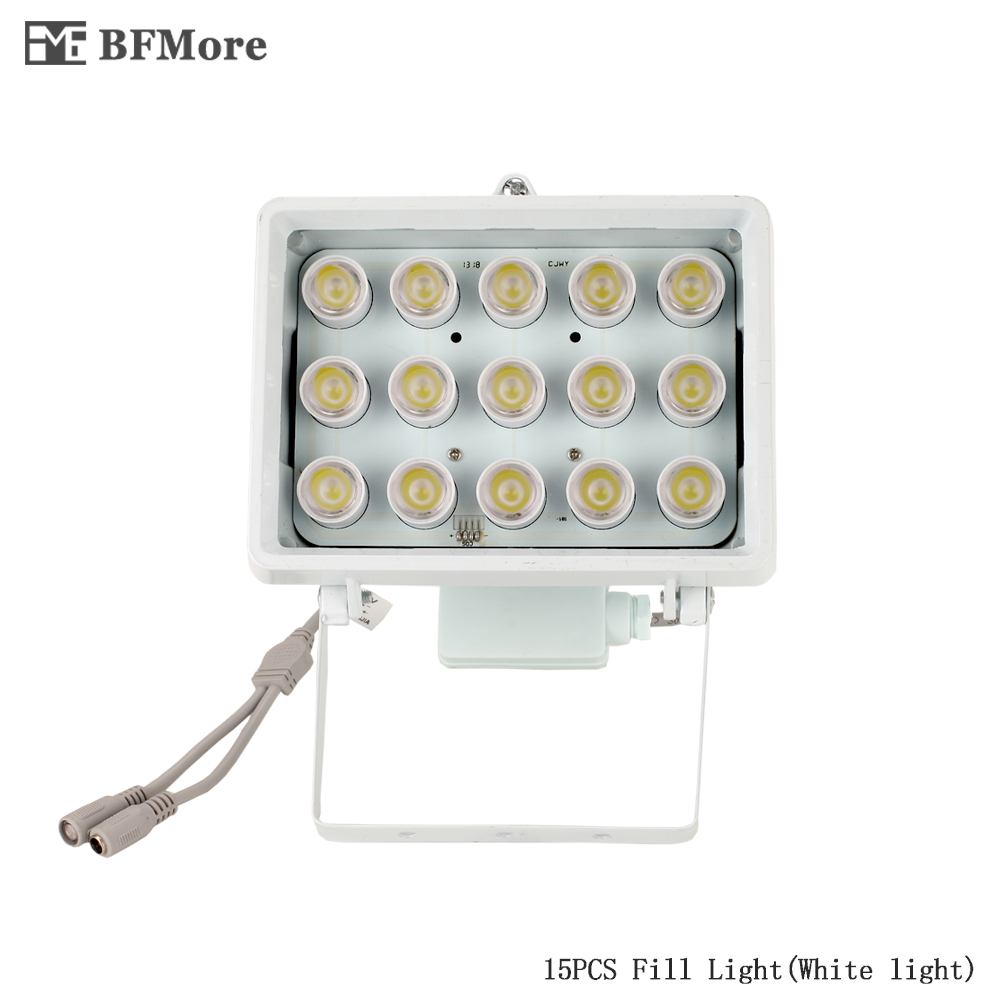 BFMore White illuminator Fill Light 15 PCS LEDs 20-50m Distance for CCTV Surveillance Security Snap Road Parking flashlight<br>