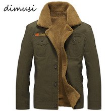 DIMUSI Winter Bomber Jacket Men Air Force Pilot MA1 Jacket Warm Male fur collar Army Jacket tactical Mens Jacket Size 5XL,PA061(China)