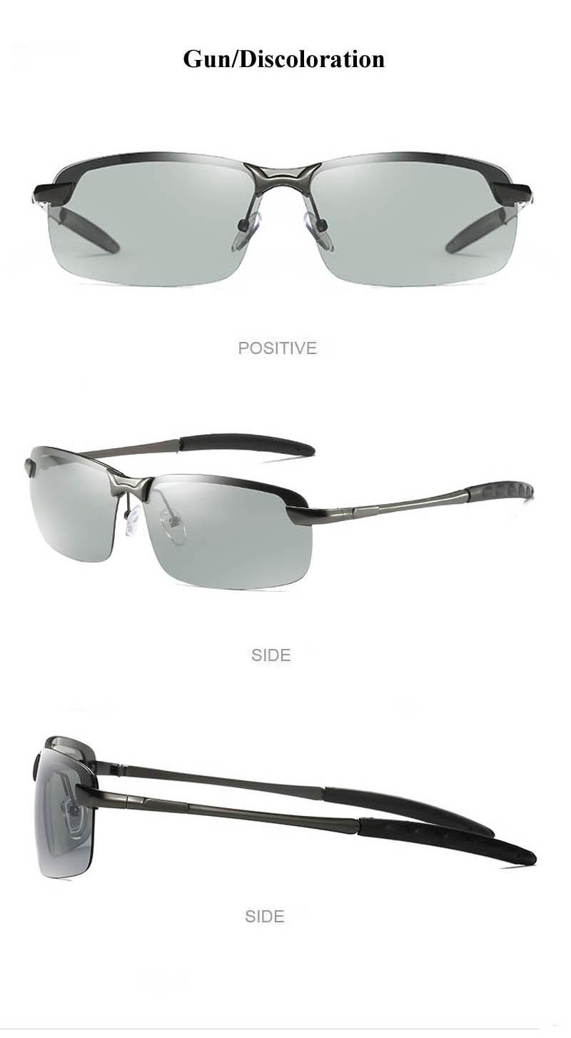 RoShari New photochromic Sunglasses men top quality All-weather Discoloration Professional driving Sun glasses men oculos D3043 8