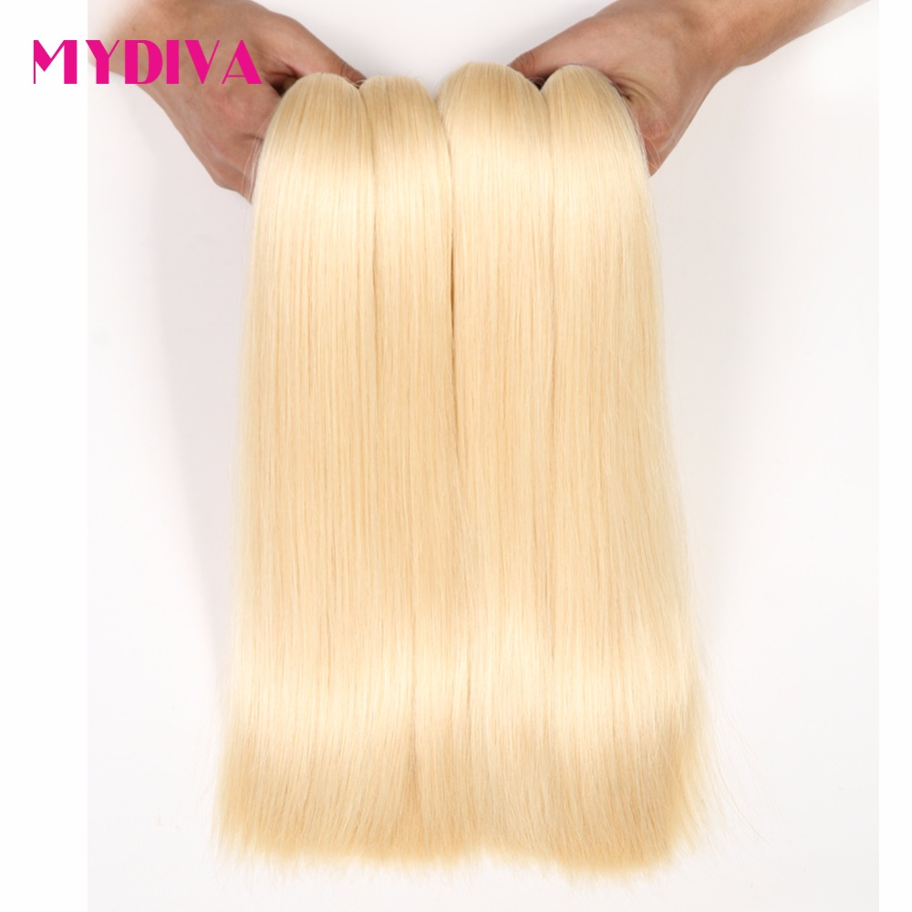 Online buy wholesale brazilian wet and wavy weave from china mydiva 613 blonde hair weaves brazilian hair bundles 100 honey straight hair extensions no shed pmusecretfo Image collections