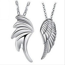 2016 new design angel wing style 925 sterling silver necklaces & pendants Christmas promotion drop shipping