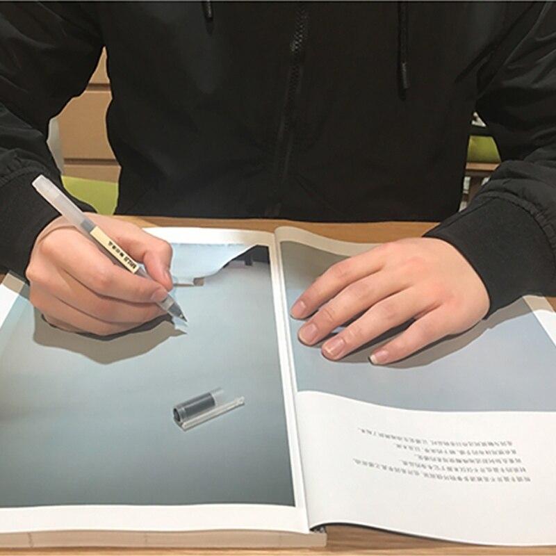6 Pcs/Set MUJI Style Japanese Gel Pen 0.5mm Black Ink Pen Maker Pen School Office Student Exam Writing Stationery Supply
