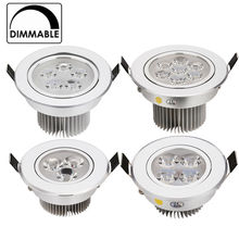 2pcs/lot best price CREE 3W 9W 12W 15W 21W recessed LED downlight dimmable  AC120V 240V  indoor lighting Cold /Pure/Warm white