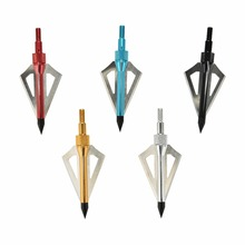 100 Grain 3 Blade Fit Stainless Steel Crossbow/Compound Hunting Archery Arrow Heads Broadheads