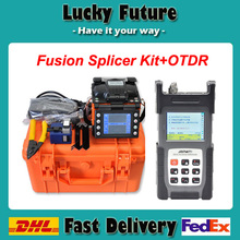 Fiber Optic Splicing Machine Fusion Splicer Kit Fusionadora de Fibra Optica With SM 1310/1550 Fiber Optical OTDR Tester