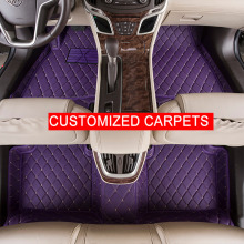 Car Floor Mats Case for  Toyota Prius Previa Customized Auto 3D Carpets Custom-fit Foot Liner Mat Car Rugs  BLACK