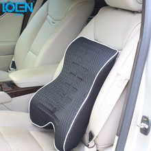 LOEN 1PC Memory Foam 3D office Home Chair Car Seat Cushion Lumbar Back Support Pillow Auto Seat Supports Comfortable(China)