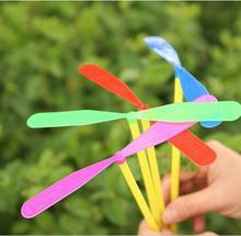 1pcs Novelty Plastic Bamboo Dragonfly Propeller Outdoor Toy Kids Gift Flying