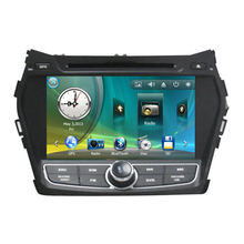 "8"" Car Radio DVD GPS Navigation Central Multimedia for Hyundai IX45 Santa Fe 2013 RDS Analog TV Phonebook Bluetooth Handsfree"