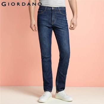 Giordano homens jeans da marca de moda casual masculino denim calças calças de algodão em linha reta classic jeans masculina